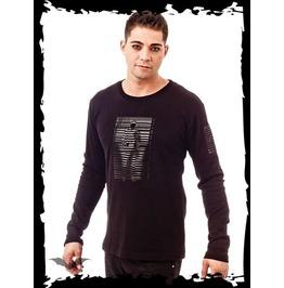 Human Barcode Long Sleeve Goth Industrial Shirt $9 Shipping Worldwide