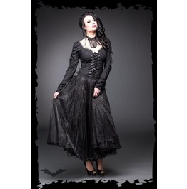 Full Length Black Corseted Gothic Princess Tulle Dress $9 Ships Worldwide