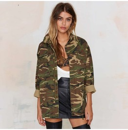Military Camouflage Women's Jacket