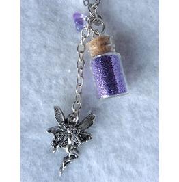 Elven Fairy Purple Ashes Necklace, Elven, Dust, Wicca, Wedding, Mystic