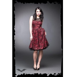 Rockabilly Retro Goth 2 Layer Party Dress With Sexy Black Lace $9 Shipping