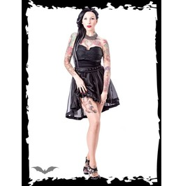 Strapless Black Gothic Cocktail Dress With Translucent Skirt $9 To Ship