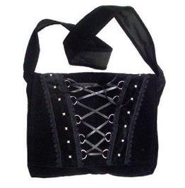 Corset Style Velvet Shoulder Bag