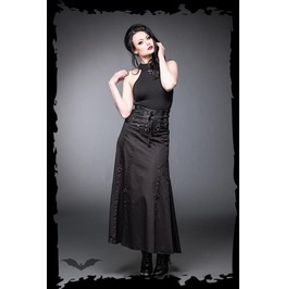 High Waisted Corset Waisted Long Black Gothic Skirt $9 Worldwide Shipping