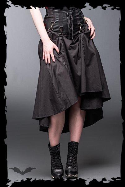 high waisted corset waisted black skirt 9
