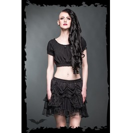 Cute Black Layered Lace Gothic Lolita Mini Skirt $9 Worldwide Shipping