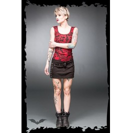 Black Cotton Punk Mini Jean Skirt Industrial Rings On Sides $9 Shipping