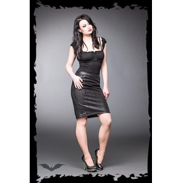 Black Faux Leather Goth Fetish Pencil Skirt $9 Worldwide Shipping