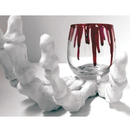 Bloody Awesome Glass Tealight Candle Holder