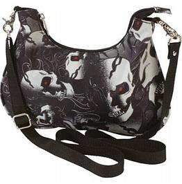 Skull Goth Punk Convertible Purse Shoulder Bag Purse