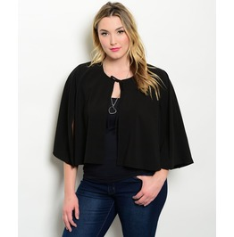 Black Half Capelet Sizes M To 3 X