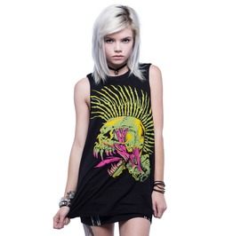 Iron Fist Clothing Defector The Exploited Skull Punk Rock Muscle Tank