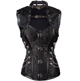 Steampunk Links Chain Halter Neck Overbust Corset