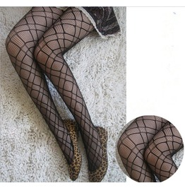 New Fashion Geometric Pattern Sexy Black Women Pantyhose