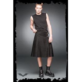Mens Gothic Punk Black Buckle Utility Kilt Up To 5 Xl $9 Worldwide Shipping