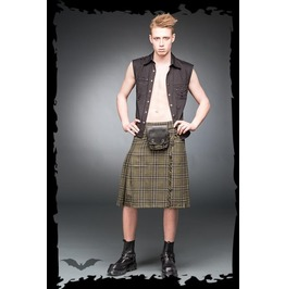 Mens Green Plaid Buckle Utility Kilt Sizes Up To 6 Xl