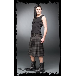 Mens Grey Plaid Buckle Utility Kilt Sizes Up To 6 Xl