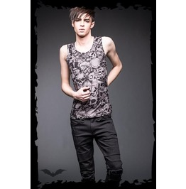 Mens Skull Goth Industrial Tank Top Beater Shirt $9 Worldwide Shipping