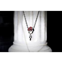 Bdsm Heart Key Chain Charm Pendant Metal Necklace Valentine Wedding Gift