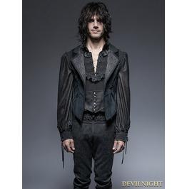 Gothic Gorgeous Long Tuxedo Vest