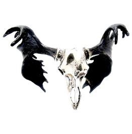Moose Skull Bangle White Bronze And Oxidized Antique Color