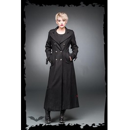 Black Gothic Buckled Full Length Double Breasted Long Wool Coat $5 Shipping