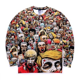 Harajuku Style 2016 Men/Women New Fashion 3d Print Zombie Sweatshirts