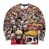 Harajuku style 2016 men women new fashion 3d print zombie sweatshirts  hoodies and sweatshirts 6