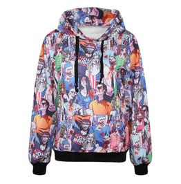 Zombie Print Women Hoodies