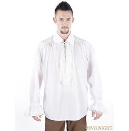 White Vintage Gothic Blouse For Men