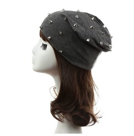 Stylish Rivets Studded Knitted Hat