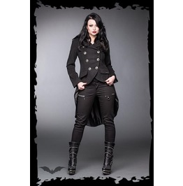 Ladies Victorian Vampire Black Gothic Buckled Tail Coat $9 Shipping