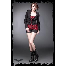 Ladies Black Military Goth Punk Blazer Crop Jacket $9 Worldwide Shipping