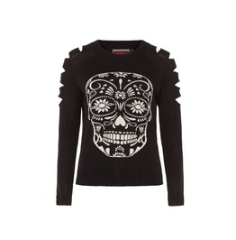 Jawbreaker Rosita Slash Sleeve Day Of The Dead Jumper
