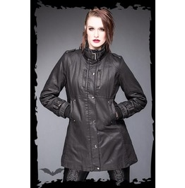 Ladies Black High Collar Jacket Gothic Buckle Coat $5 Worldwide Shipping