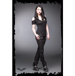 Ladies Goth Industrial Punk Pants Zipper Trousers $5 Worldwide Shipping