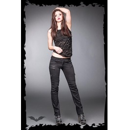 Ladies black zipper goth pants industrial punk trousers 9 to ship pants and jeans 5