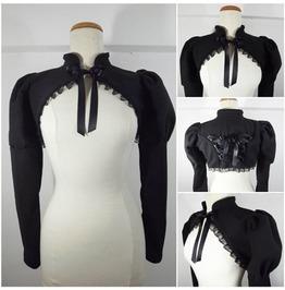 Gothic Black Fleece Shrug Large /Extra Large Size