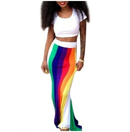 X X Rainbow Bliss Xx Two Piece Outfit S/M/L/Xl
