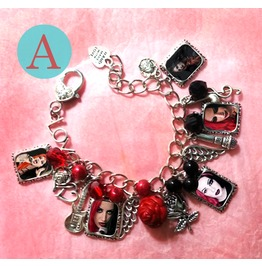 Ash Costello Punk Rock Charm Bracelet