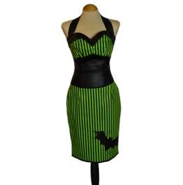 Stunning Gothabilly Skirt & Bodice Vintage Psychobilly Goth Creepy Spooky
