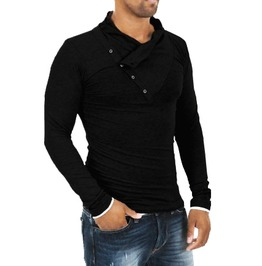 New Men's / Black / Gray / Light Gray Shirts Slim Fit Fashion Shirt