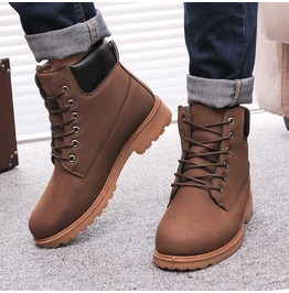 Men's Faux Leather Winter Boots