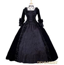 Black Velvet Gothic Victorian Ball Gowns