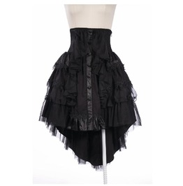 Rq Bl Gothic High Waist Multilayer Lace Fish Tail Skirt 21157
