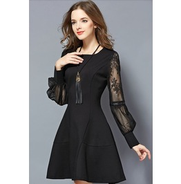 Beautiful Flower Gauze Sleeves Short Dress