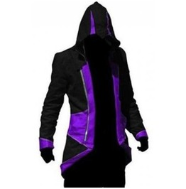 X X Assassin's Creed Xx Men's Hooded Jacket Purple/Black