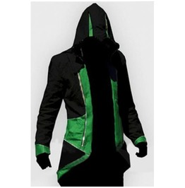 X X Assassin's Creed Xx Mens Hooded Jacket Green/Black