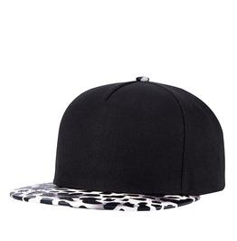 Black Leopard Print Hip Hop Cap Unisex Sliding Plate Baseball Cap 501
