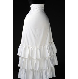 White 3 Layer Long Full Length Wedding Bustle Skirt $9 Worldwide Shipping